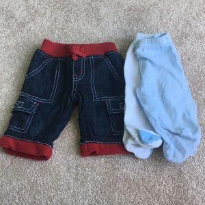 5/$30 Bundle of Three Boys Pants 0-3
